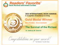 Readers' Favorite Gold Medal Winner Book Award in Non-Fiction – Environment
