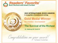 Readers' Favorite Gold Medal Winner Book Award in Non-Fiction – Environment