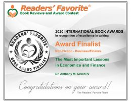 Readers favorite 2020 International Award Finalist