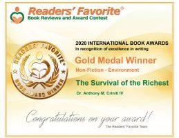 Readers Favorite 2020 International Book Awards Contest Gold Medal